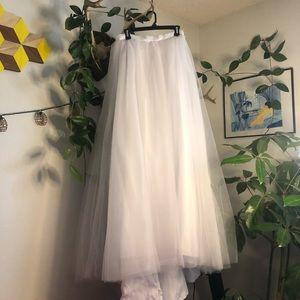 Bridal tutu tulle skirt